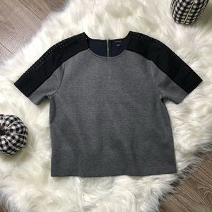 Ann Taylor grey shirt. Statement sleeves. Medium
